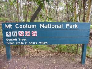 Mount Coolum National Park Sign